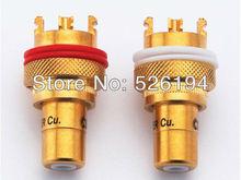 Free Shipping 4PCS CMC-805-CU-G speaker Copper Plated plugs
