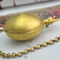 wholesale buyer price good quality special retro vintage classic smooth egg oval copper brass mechanical pocket watch