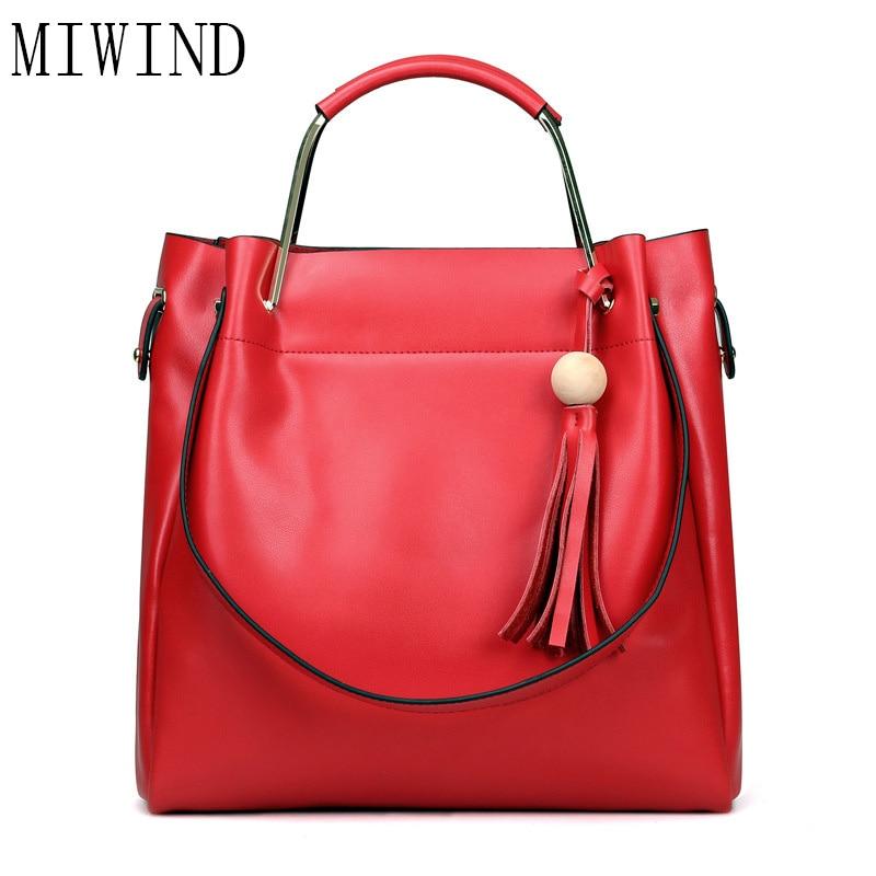 купить MIWIND Fashion Genuine Leather Handbag Famous Brand Bag Lady Handbag Women Fashion Shoulder Bag Messenger Bag WUN001 по цене 4508.23 рублей