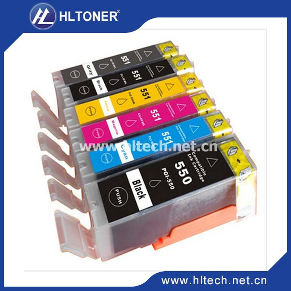 5pcs Compatible ink cartridge PGI-550 CLI-551 PGI-550XL CLI-551XL for PIXMA MG7550 Ip7250 MX925 MX725 IX6850 IP8750 new in stock ve j62 iy vi j62 iy