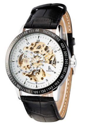 ФОТО Ik for double faced cutout fully-automatic mechanical watch revealed at men's watch male watch strap