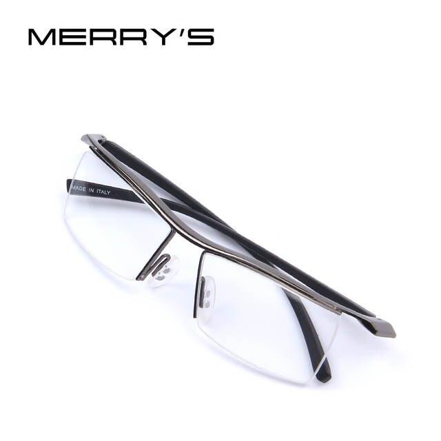 placeholder MERRYS Homens Armações de Óculos Armações de Óculos Óculos Moda  Quadro Miopia Armação De Titânio Cremalheira d4bb0f8d24