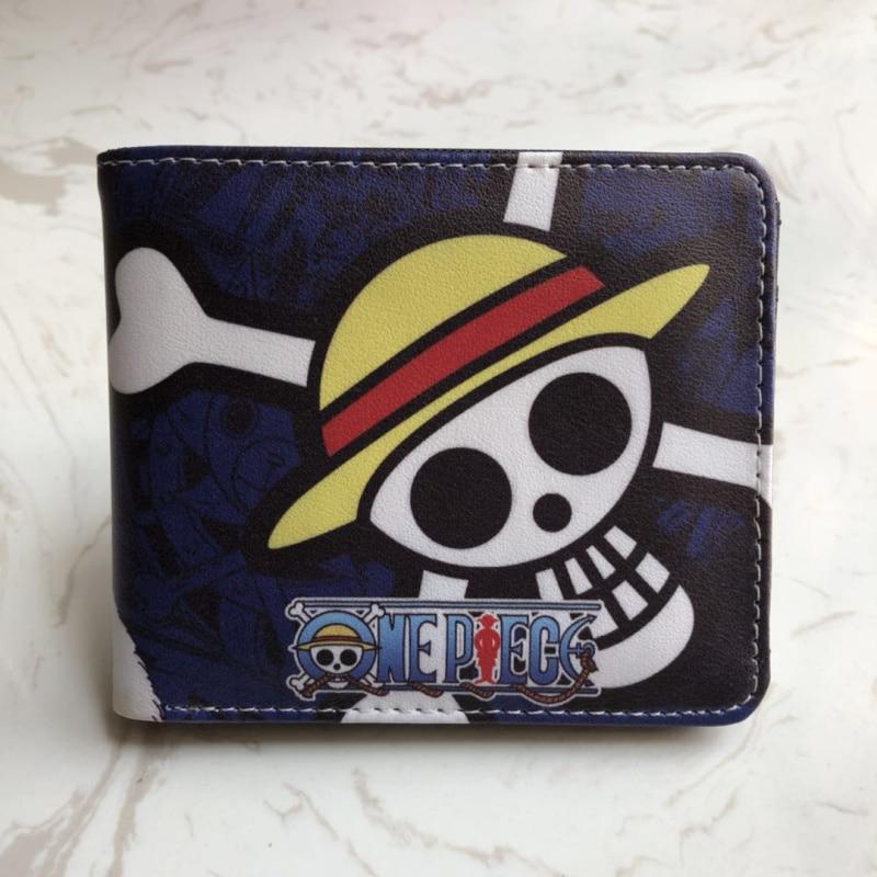 Anime Fashion Cartoon Wallet One Piece Skull Fold Wallet Purse Gift Boy Men