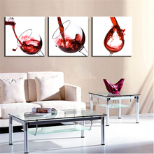 Red Wine Unframed Spray Painting Living Room Decor HD Printings 3 Panels Modern Canvas Wall Art Hot Sale Product Best Gift