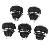 Waterproof Momentary Push Button Switch for Doorbell Car Boat 17mm Pack of 5 White