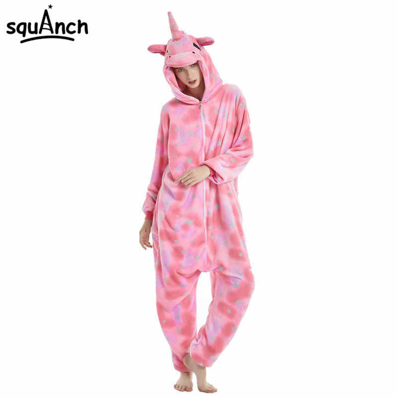 de3d24ec2 Kawaii Unicorn Onesie Pink Close Eyes Tenma Pajama Animal Kigurumi Women  Zipper Overalls Rainbow Tail Cartoon