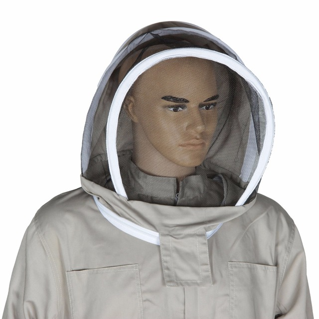 Bee Keeping Suit Removeable Hat Anti-bee Protective Safety Coveralls Smock Equipment Supplies Beekeeping Jacket 2