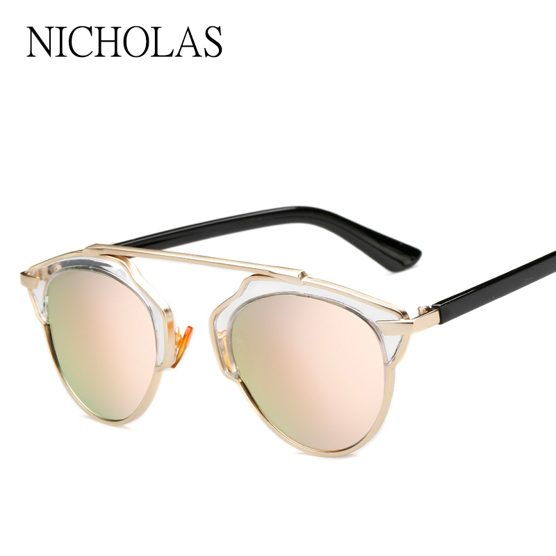 2017 Vintage Retro font b Sunglasses b font Women Brand Desiger Female Mirror Sun glasses Ladies