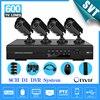 NVR CCTV 8 CH DVR Home Security Camera System 4CMOS 600TVL Night Vision Outdoor Surveillance System