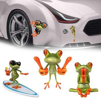Funny 3d Cartoon Colorful Frogs Spider Car Stickers Decal
