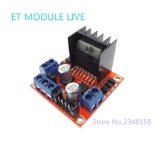 (1 PCS)Special promotions L298N motor driver board module  Dual H-bridge motor driver  for arduino stepper motor smart car robot