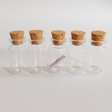 7ml glass cork bottle china gift tiny jars with message in a 22*40mm jar decor 50pcs/lot