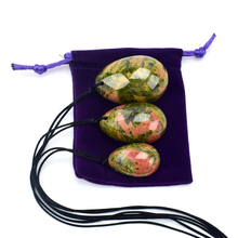 Yoni Egg Drilled Body Massager Natural Unakite Stone Jade Eggs Carved  Wa Ben Ball for Women Kegel Exercise Massage & Relaxation