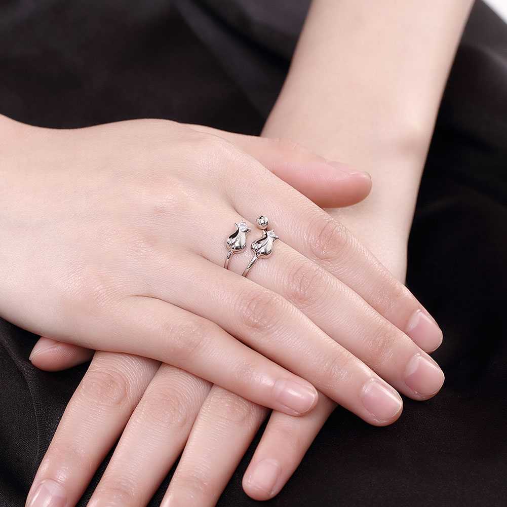 Fashion 925 Sterling Silver Fine Jewelry Somantic Rose Ring Women ...