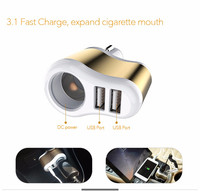 100 Genuine Brand Universal 2 Port Car Charger USB Car Charger 3 1A Plug Adapter For