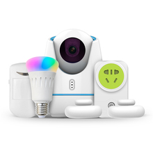 1080P HD IP Camera Wifi IR-Cut Night Vision Onvif CCTV Camera System Kit With E27 Led Color Change Bulb,Socket,/PIR/Door Sensor