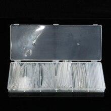 150 Unids Transparente Poliolefina 2:1 Heat Shrink Tubing Tubos Manguito Eléctrico Surtido de Alambre para Envolver