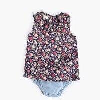 2pcs Newborn Baby Girls Clothes sets cute floral Cotton print sleeveless Top+Pants Set Summer infant children Outfit ropa de beb