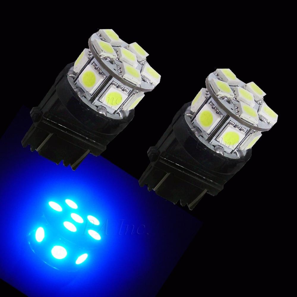 PA LED 10 pièces x 3157 13SMD 5050 bleu LED Auto voiture haut montage frein lumière 12 V