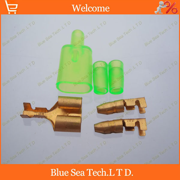 2 male to 1 female car wire connectors sets,bullet terminal+sheath,6 in 1  terminal connector for car motorbike etc. 120pcs set 3 5mm brass bullet connector terminal male