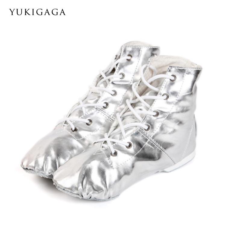 Belly Dance Boots Girls Ladies Gold Silver Colors Jazz Dance Shoes Soft Split Soles Pole Dance Shoes Ballet Shoes