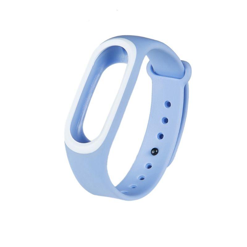 Силиконовые Красочные Браслет спорта ремешок для Xiaomi Эй плюс Smartband - Цвет: BL