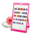 2016 Nail Color Chart Manicure Tool Nail Accessory Nail Tips Book For Nails Art Display Gel Polish Colorful Card Beauty Pink