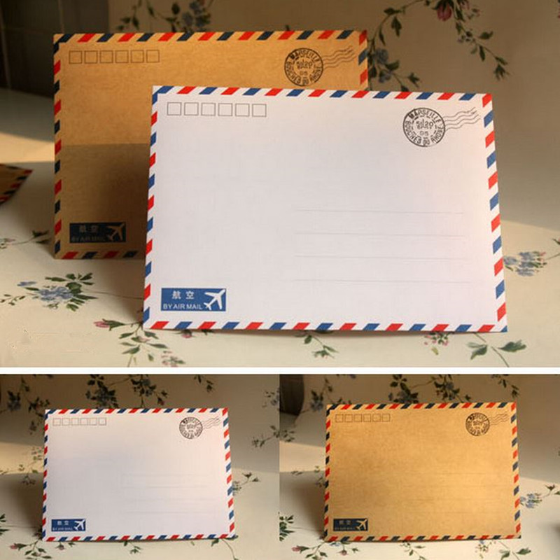 Coloffice 10PCS/Lot Large Postcard Letter Stationery Paper Kraft Envelope Vintage Wallet Envelope For Student School Office Gift