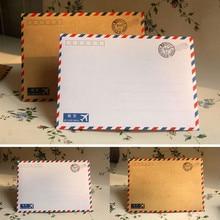 Coloffice 10PCS/Lot Large Postcard Letter Stationery Paper Kraft Envelope Vintage Wallet Envelope For Student School Office gift