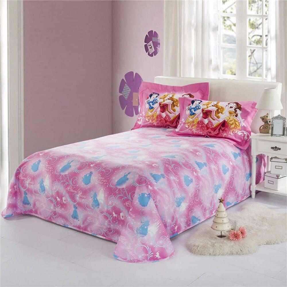 princess comforter bedding set baby girls bed cover sheets cartoon