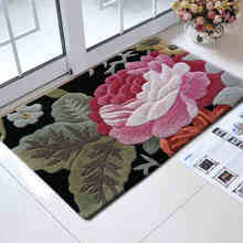 ALITEXTILEBTOC Northern Europe Carpets Plus Size Carpet for Hallway Bedroom 100% Wool Hand Carved Round Soft For Home