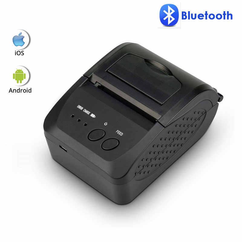 NETUM NT-1809DD 58Mm Bluetooth Máy In Hóa Đơn Nhiệt Cho Android IOS Windows Và 5890T RS232 Cổng Máy In Hóa Đơn POS di Động