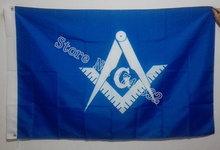 Masonic Flag Blue hot sell goods 3X5FT 150X90CM Banner brass metal holes(China)