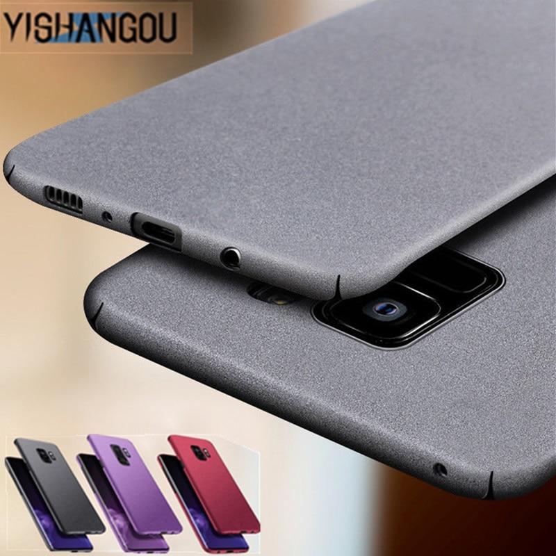 Ультратонкий с матовой поверхностью чехол для телефона samsung S10 S6 S7 Edge S9 S8 Plus Жесткий Полный Защитный чехол для Galaxy Note 9 8 Coque