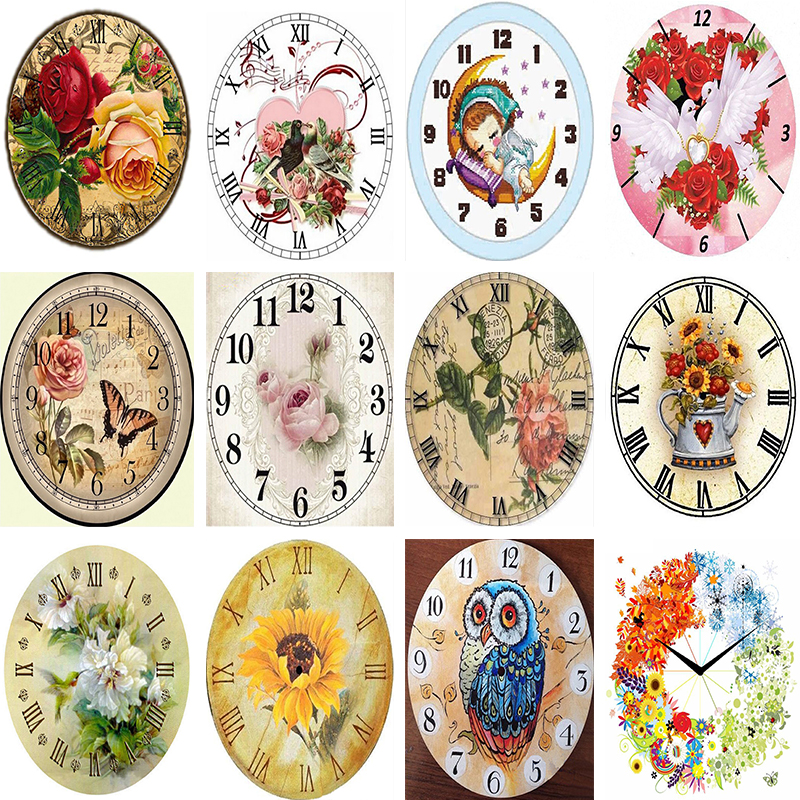 3D Full Square / Round Diamond Embroidery sale Wall Clock Icon Diamond Paintings 5d diy  ...