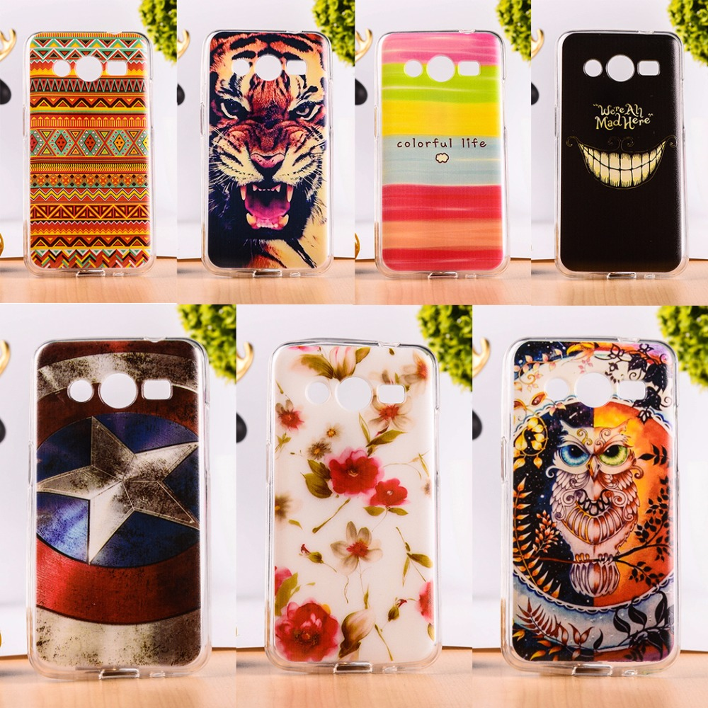 Soft TPU Phone Cases For Samsung Galaxy Core II 2 G355M Dual SIM G355H Core2 G3556D G3559 Silicon Back Cover Shell Skin Shields