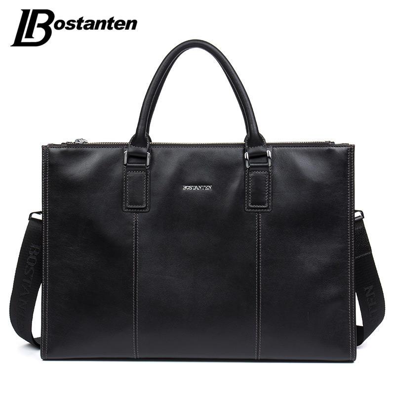 BOSTANTEN Men Briefcase 2017 Cow Genuine Leather High Quality Handbags Large Men Shoulder Messenger Bag Attache Case Travel Bag hocking liz wren wendy bowen mary english world 7 pupils book