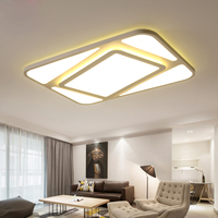 Ультра тонкий гостиной свет потолка домохозяйство простые геометрические прямоугольный пост современный Nordic спальня потолочный светильн