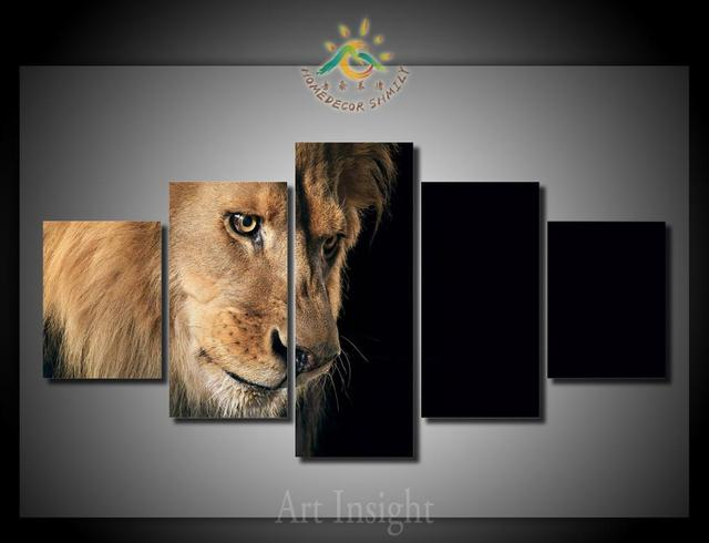 5 Pieces/set Sad Lion Wall Art Paintings Picture Print On Canvas For Home  Decoration