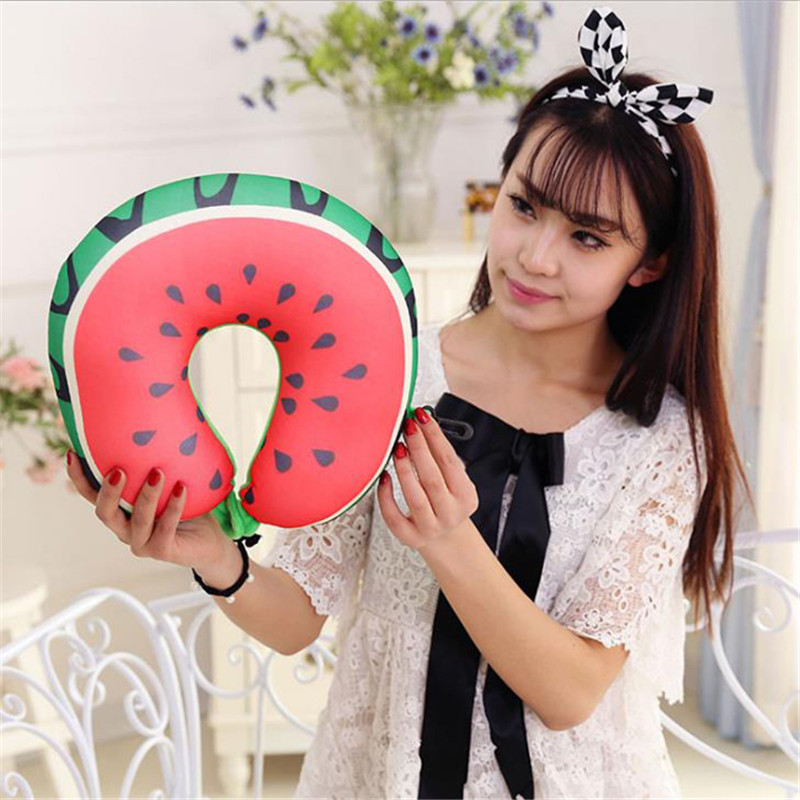Fruit Nanoparticles Neck Pillow Car/airplane Headrest Cushion U-shaped Office Nap Pillow Nursing/travel Pillow Yl885854
