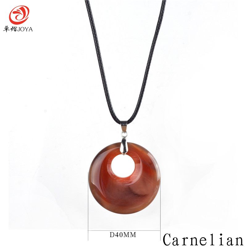 Fashion Natural Turquoise Pendant Necklace Tiger Eye Rose Quartz Crystals Leather Chains Jewelry Gift