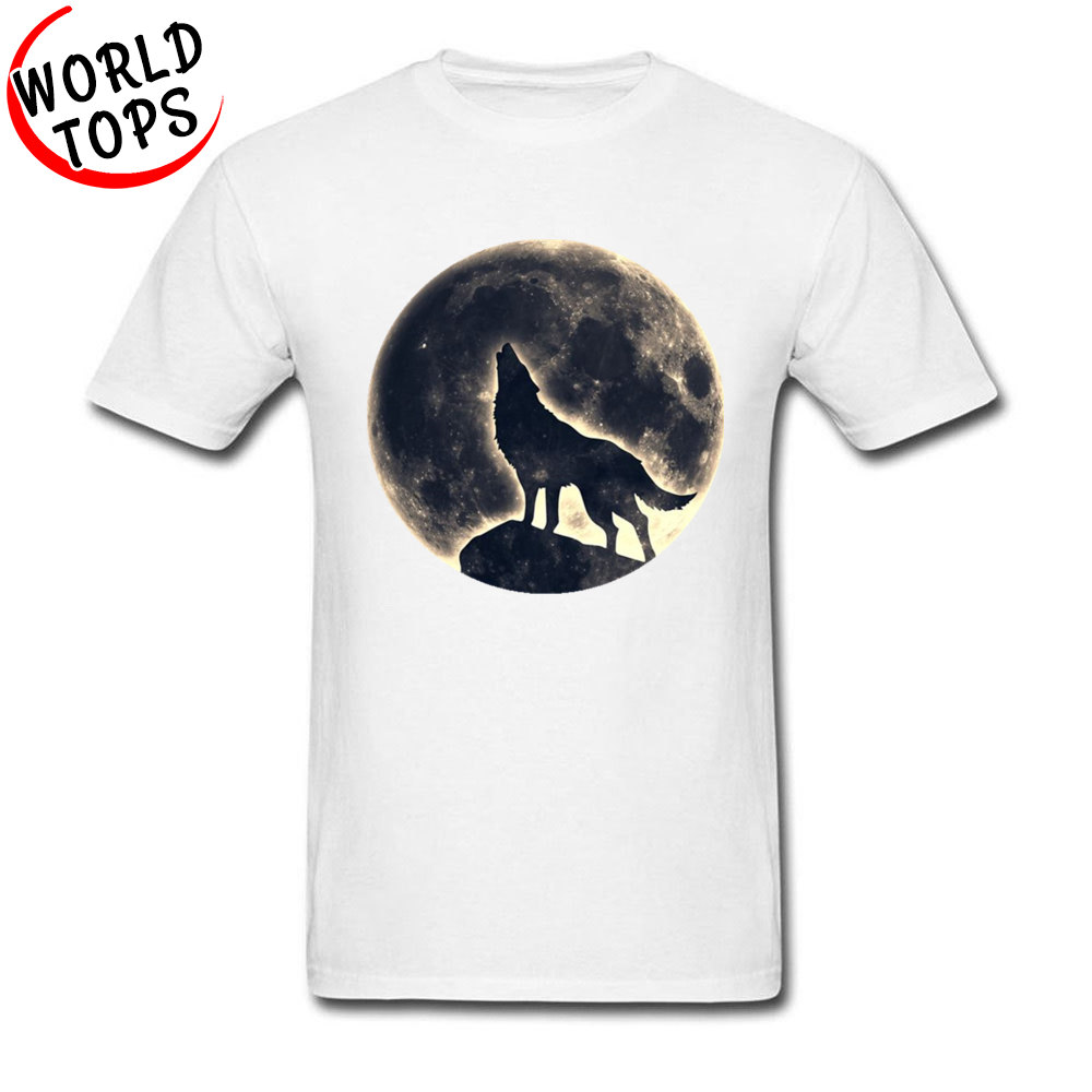 Wail Wolf Moon Overflowing Rock Youth Tops Shirts Oversized Life Is Strange Horror Cool T Shirt Men Trends Fashion White Tshirt
