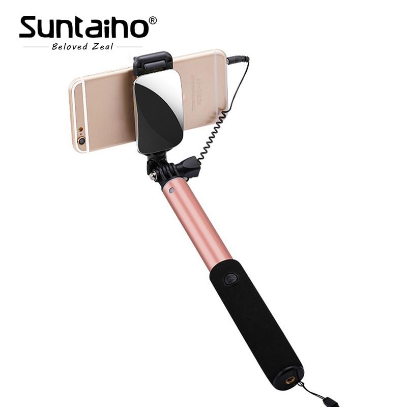 Portable Wired Stretchable Selfie Stick Monopod For Samsung Xiaomi Phone Monopod Palo Selfie Sticks Tripod Holder pau de self