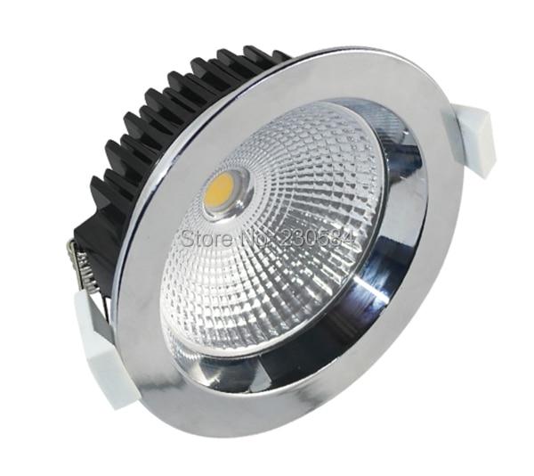 COB downlight White,silver,Chrome,Nickel color LED Retrofit Recessed downlight lamp Lighting Fixture 7w 10w 12w