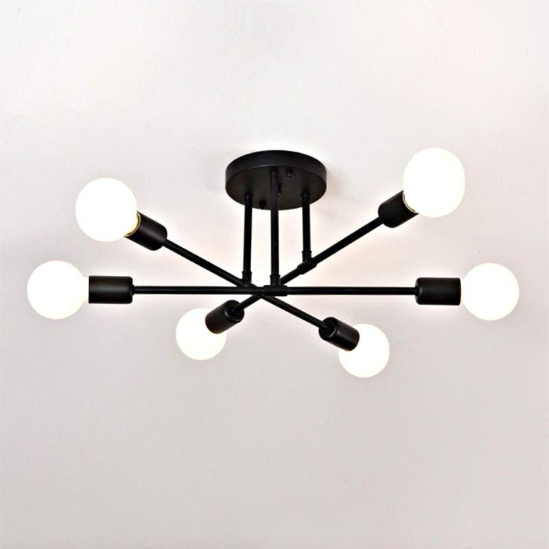 HTB1LW7Sc9SD3KVjSZFKq6z10VXa2 6/8 Head LED Industrial Iron Ceiling Lamp Black/Golden European Minimalist Living Room Lighting 220V E27 Anti-Rust & Durable