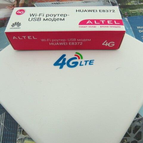 ФОТО Original Unlock HUAWEI E8372H-608 150Mbps 4G LTE 12V CAR WiFi Router+4g TS9 Antenna