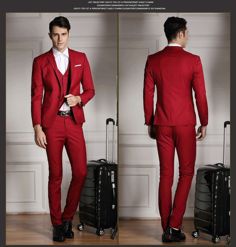 Skinny Mens Suits Casual 2015 Slim Fit Suit M 0360 Custom Italy ...