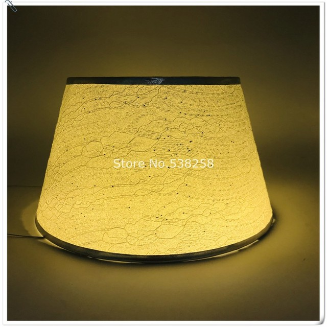 Free Shipping E27 Modern Lampshade For Small Table Lamp Pvc Pattern Textile Fabrics Decorative Gold