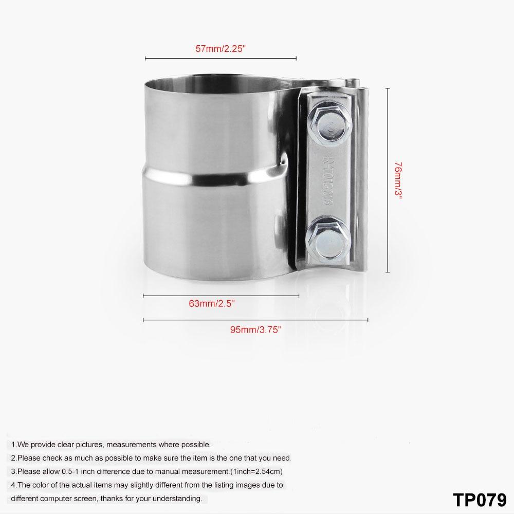 Edelstahl Auspuff Clamp Ersatz Werkzeug Teile Motor für Auto Butt Kit Set 2018