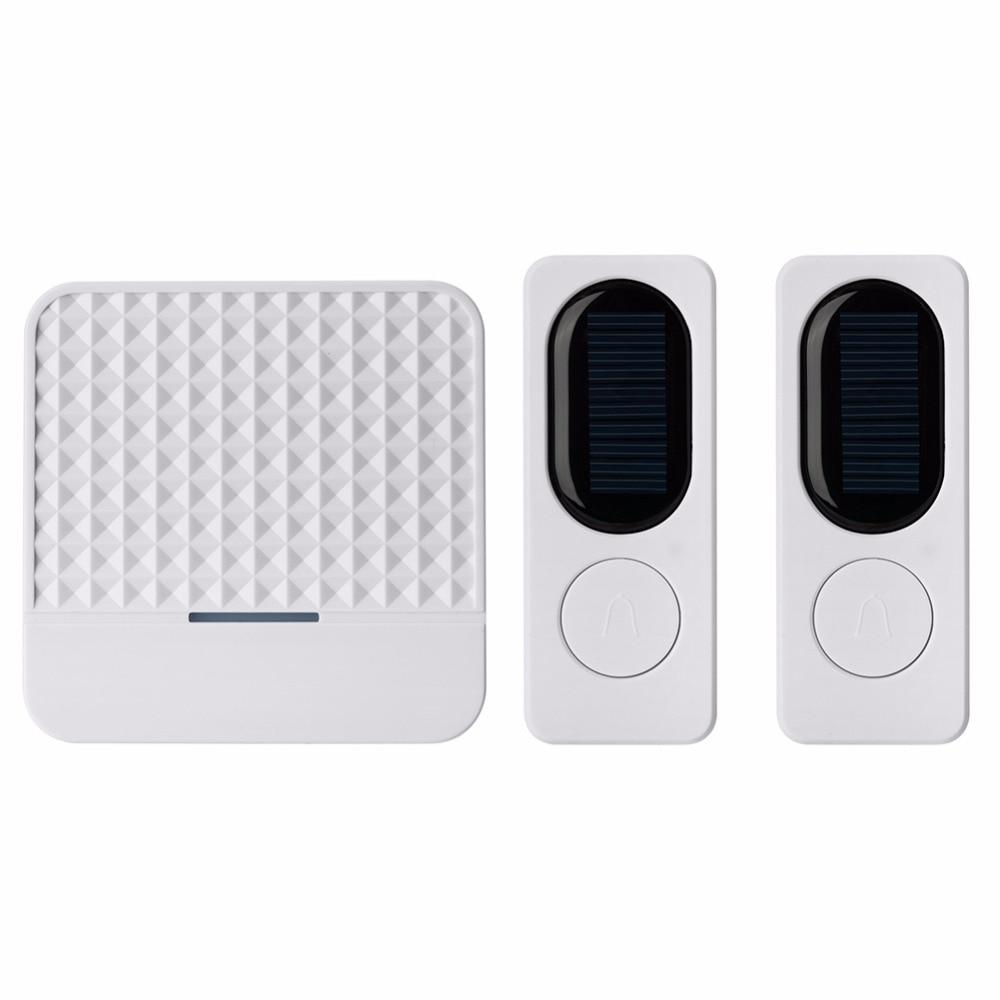 Waterproof Wireless Cordless Home Digital Doorbell Wall Plug-in Door New Chime Kit 52 music 300m Long Range Doorbells UK Plug